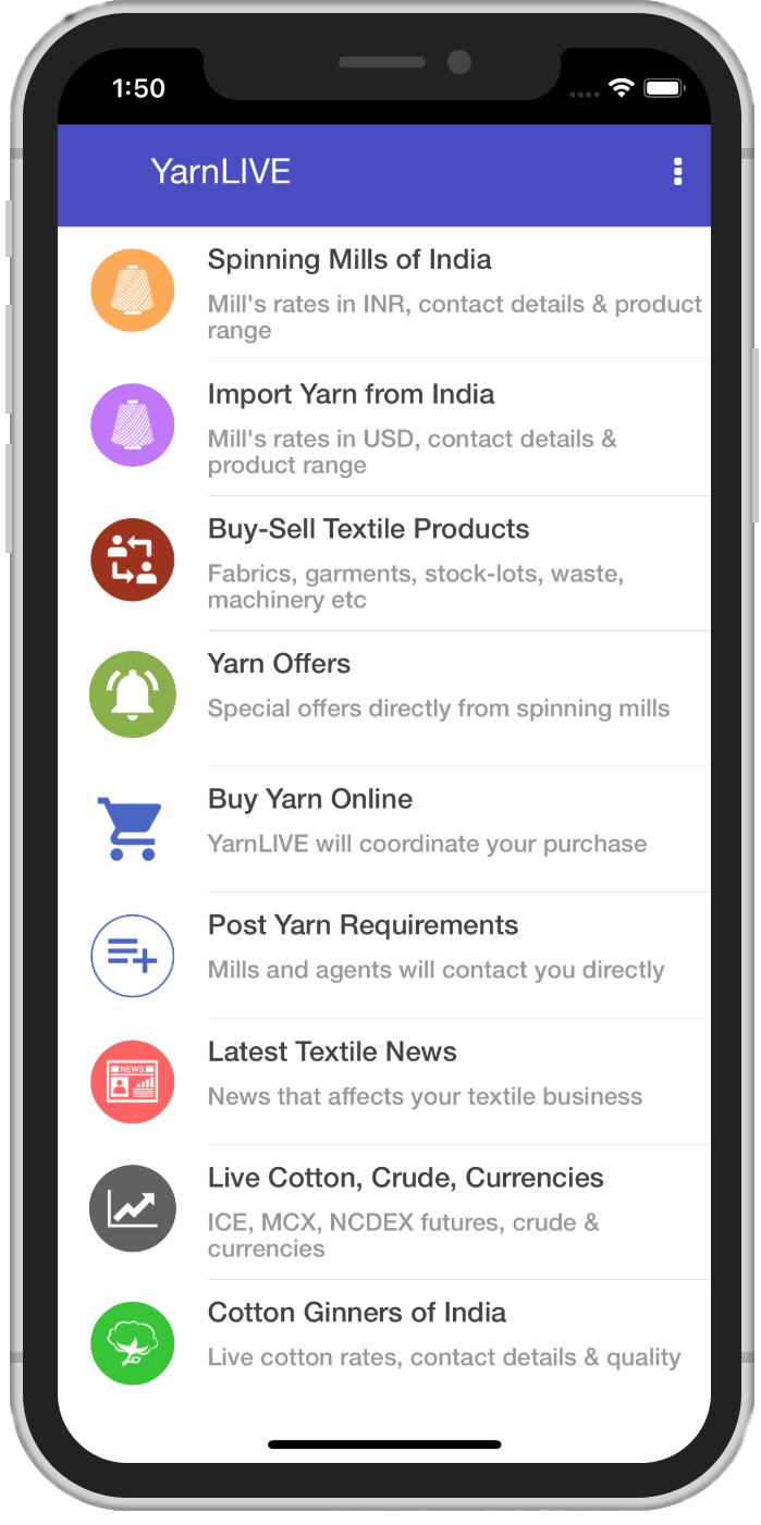 YarnLIVE: The Online Yarn Market of India, Live Yarn Rate and Prices